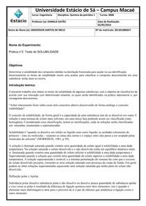 RELATÓRIO DE química do petróleo 01 experimento 02