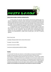 Exemplo de Trabalho COMPLETO (Posto Verde)