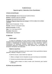 Plano de Aula - Matemática - 2 Ano EF - Quantidades