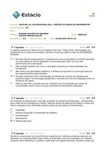 AV 2014.1 - GESTÃO DA CADEIA DE SUPRIMENTOS