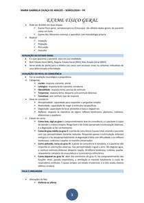 EXAME FÍSICO GERAL - semiologia médica