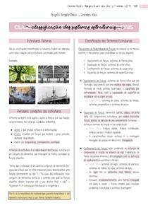 Resumo - Classificação dos Sistemas Estruturais