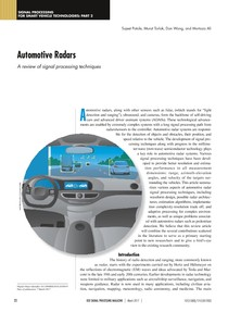 Automotive Radars A review of signal processing techniques