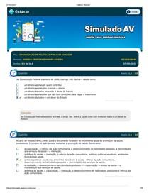 SIMULADO ORG POLITICAS PUBLICAS DE SAUDE