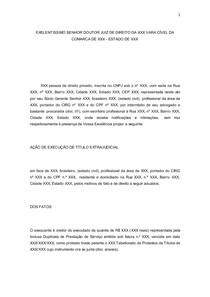 Petição Execução De Duplicata Direito Cambial E Contratos
