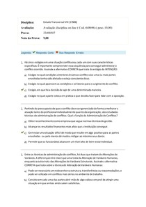 Prova Estudo Transversal VIII