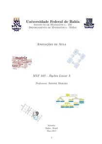 Algebra Linear A Simone Moraes UFBA