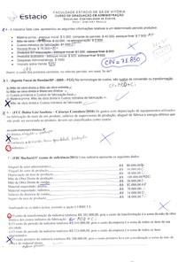 Prova contabilidade de custos parte 2