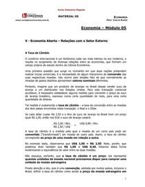 Economia - 05 - Economia Aberta – Relações com o Setor Externo