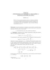 Apostila sobre exponencial de matrizes e cálculo funcional