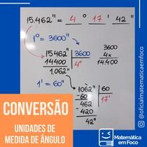 Unidades de Medida de ângulos (grau, minuto e segundo)