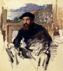 Self Portrait In His Atelier-Claude Monet