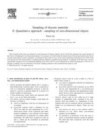 Sampling of discrete materials quantitative approach sampling of zero dimensional objects