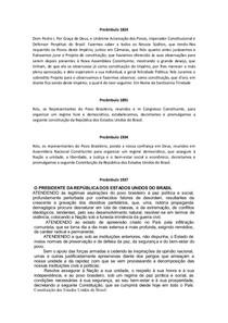 Preâmbulos Constituições Brasileiras