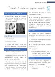 Tratamento em dentes com rizogênese imperfeita