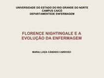 FLORENCE NIGHTINGALE E A EVOLUÇÃO DA ENFERMAGEM