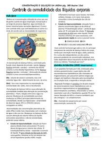 Controle da osmolalidade dos líquidos corporais