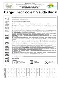 crescer consultorias 2017 prefeitura de luis correia pi técnico em saúde bucal prova