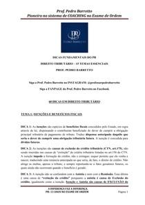 Apostila 60 dicas Direito Tributário Prof Pedro Barretto