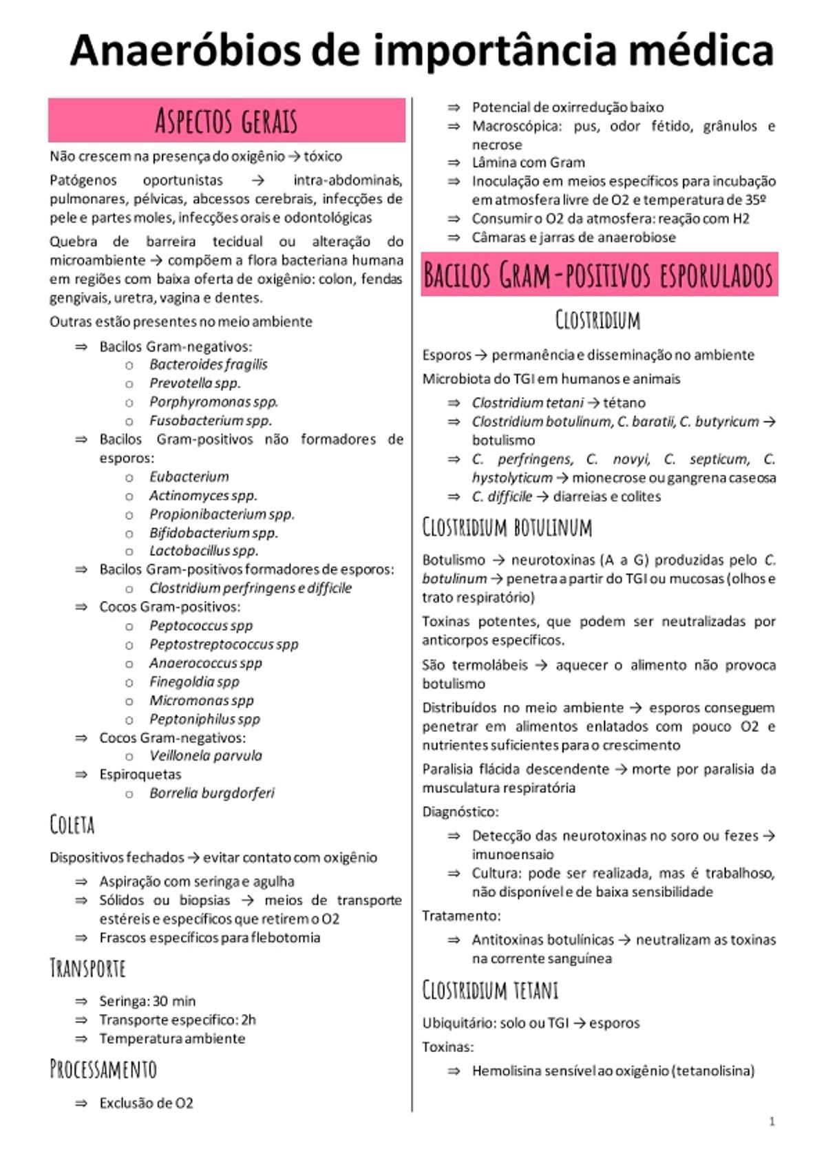 Pre-visualização do material ANAERÓBIOS DE IMPORTANCIA MÉDICA - página 1