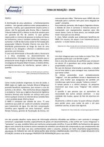 TEMA 4 - O uso de medicamentos cientificamente não testados