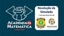 PRF TURMA V8 PROJETOS MISSÃO SIMULADO 01 - MATEMÁTICA
