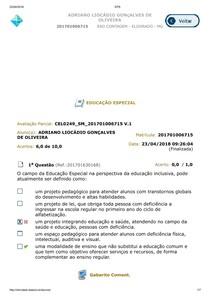 AV1 Educação Especial