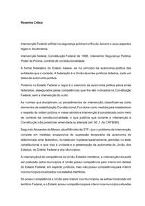 Resenha Crítica DIREITO CONSTITUCIONAL INTERVENCAO - OK