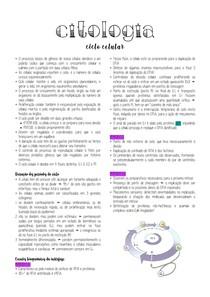 Citologia - Ciclo celular