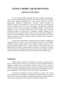 Clínica médica de ruminantes - Linfático [resumo]