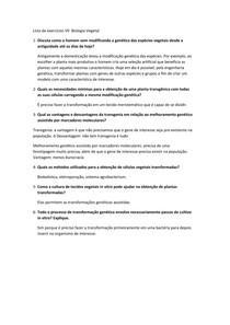 Lista de exercícios Biotecnologia Vegetal