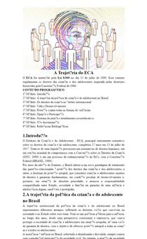 Trajetória do ECA