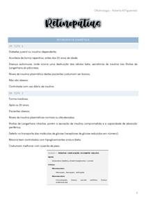 Oftalmologia - Retinopatias