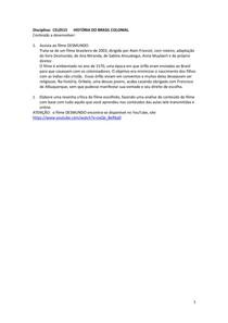 HISTÓRIA BRASIL COLONIAL