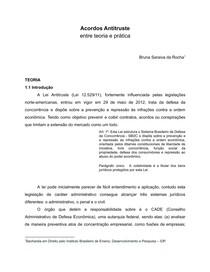 Acordos Antitruste entre teoria e prática