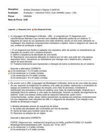 Análise Orientada a Objetos II Avaliação I - Individual FLEX