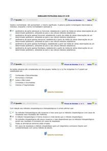 SIMULADO PATOLOGIA BÁSICA AULA 01 A 05