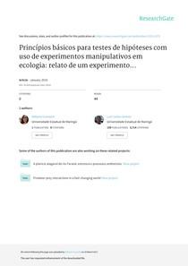 Granzotti  Gomes 2016 Princpios bsicos para testes de hipteses com uso de ex
