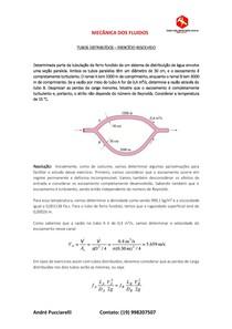 REDES DE TUBULAÇÕES (MECÂNICA DOS FLUIDOS) - EXERCÍCIO RESOLVIDO