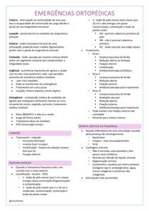 emergências ortopédicas