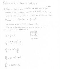 Cálculo I - Taxa de Variação