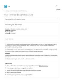 Av 2 - Teorias da Administração