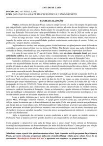 ESTUDO DE CASO - INCLUSÃO NA AULA DE EDUCAÇÃO FÍSICA E O ENSINO REMOTO