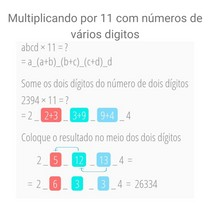 Multiplicando por 11 com números de vários digitos