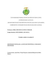 IDENTIDADE PARCELADA: JUVENTUDE PERIFÉRICA, CONSUMO E IDENTIDADE