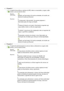 Avaliação On Line 5 (AOL 5)   Questionário    Psicologia Organizacional