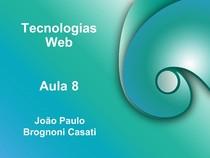 Aula - Tecnologia Web