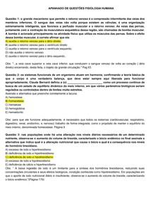 APANHADO DE FISIOLOGIA HUMANA