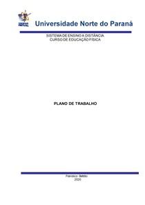 PLANO DE TRABALHO