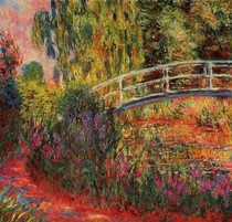 Water Lily Pond Water Irises-Claude Monet